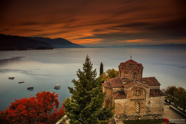 Ohrid by sunset